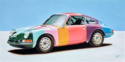 1965 Porsche 911 Paul Smith by Roz Wilson -  sized 40x20 inches. Available from Whitewall Galleries